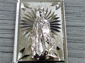 "1"" VIRGIN MARY PENDANT CHARM REAL 14K YELLOW ROSE GOLD 1.9g CATHOLIC"